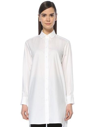 Beymen Collection Gömlek Yaka Uzun Bluz Beyaz